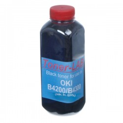 ТОНЕР OKI B4200, ФЛАКОН, 160 Г, TONERLAB