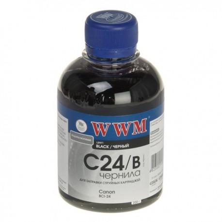 ЧЕРНИЛА CANON BCI-24, ЧЕРНЫЙ, (200 ГР, C24/B), WWM