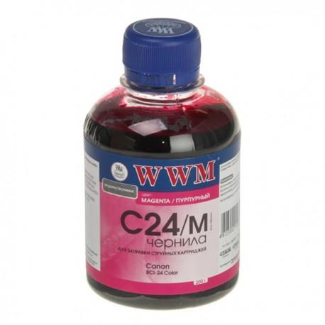 ЧЕРНИЛА CANON BCI-24, КРАСНЫЙ, (200 ГР, C24M), WWM