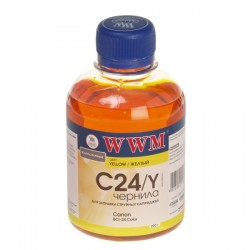 ЧЕРНИЛА CANON BCI-24, ЖЕЛТЫЙ, (200 ГР, C24Y), WWM