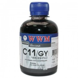 ЧЕРНИЛА CANON CLI-521, СЕРЫЕ, (200 ГР, C11/GY), WWM