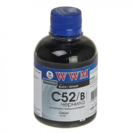 ЧЕРНИЛА CANON CL-52, ЧЕРНЫЕ, (200 ГР, C52/B), WWM