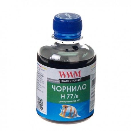 ЧЕРНИЛА HP C8719/C8721/C5016 ЧЕРНЫЙ, (200 ГР, H77/B), WWM