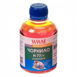 ЧЕРНИЛА HP C8719/C8721/C5016 ЖЕЛТЫЙ, (200 ГР, H77/Y), WWM
