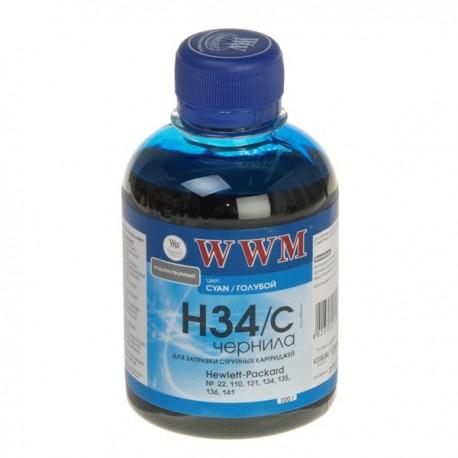 ЧЕРНИЛА HP C8766/C9361/C9363 СИНИЙ, (200 ГР, H34C), WWM