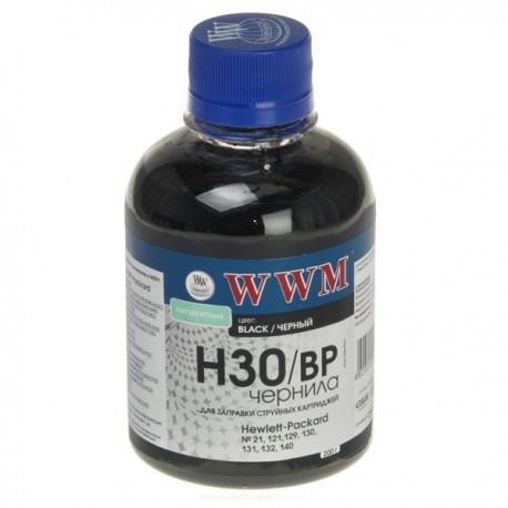 ЧЕРНИЛА HP C8767/C8765/C9362 ЧЕРНЫЙ, (200 ГР, H30BP), WWM