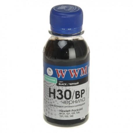 ЧЕРНИЛА HP C8767/C8765/C9362 ЧЕРНЫЙ, (100 ГР, H30BP), WWM