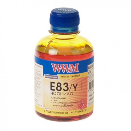 ЧЕРНИЛА EPSON ST. PHOTO R270/P50/T50, ЖЕЛТЫЕ, (200 ГР, E83/Y), WWM