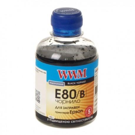 ЧЕРНИЛА EPSON L800, ЧЕРНЫЕ, (200 ГР, E80/B), WWM