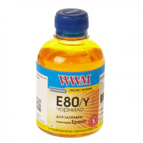 ЧЕРНИЛА EPSON L800, ЖЕЛТЫЕ, (200 ГР, E80/Y), WWM