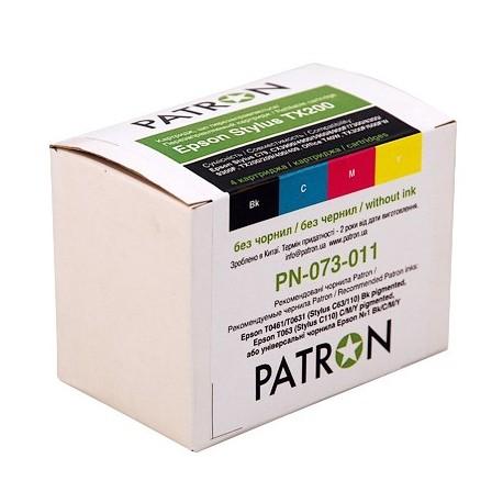 КОМПЛЕКТ КАРТРИДЖЕЙ EPSON ST. TX200, PN-073-011 (4 ШТ ПЕРЕЗАПРАВЛЯЕМЫХ), PATRON