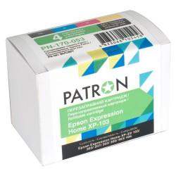 КОМПЛЕКТ КАРТРИДЖЕЙ EPSON XP103, PN-170-053 (4 ШТ ПЕРЕЗАПРАВЛЯЕМЫХ), PATRON