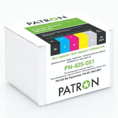 КОМПЛЕКТ КАРТРИДЖЕЙ CANON PIXMA MG-6140, PN-425-051 (6 ШТ ПЕРЕЗАПРАВЛЯЕМЫХ), PATRON