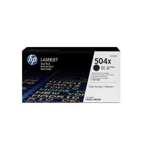 КАРТРИДЖ HP CLJ CP3525, (CE250XD/504X, 2ХCE250X) (MAX), ЧЕРНЫЙ