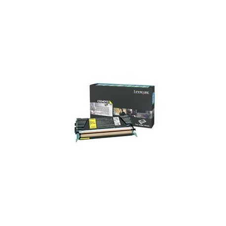 КАРТРИДЖ LEXMARK C534, (C5340YX, EXTRA HIGH YIELD RETURN PROGRAM), ЖЕЛТЫЙ