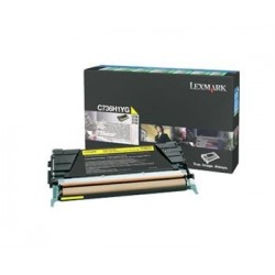 КАРТРИДЖ LEXMARK C736, (C736H1YG, HIGH YIELD), ЖЕЛТЫЙ