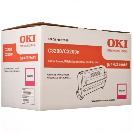 DRUM UNIT OKI C3200, (42126663), КРАС.
