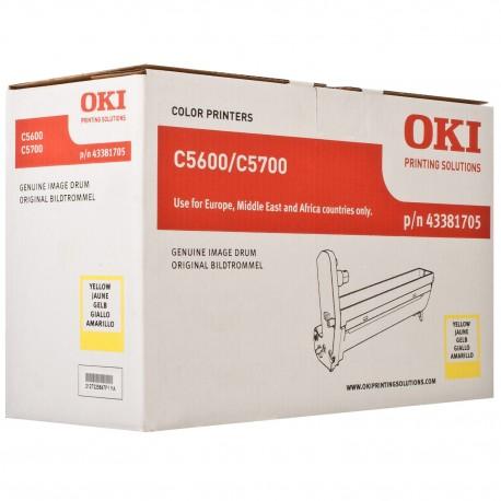 DRUM UNIT OKI C5600, (43381705), ЖЕЛТ.