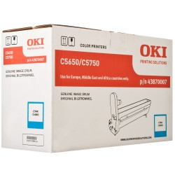 DRUM UNIT OKI C5650, (43870007), СИН.