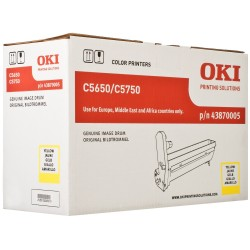 DRUM UNIT OKI C5650, (43870005), ЖЕЛТ.