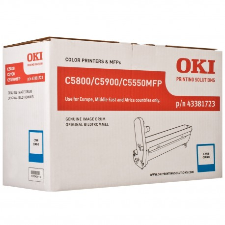 DRUM UNIT OKI C5800, (43381723), СИН.
