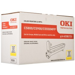 DRUM UNIT OKI C5800, (43381721), ЖЕЛТ.