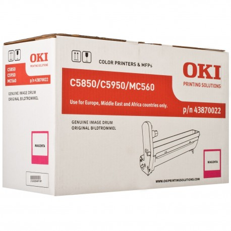 DRUM UNIT OKI C5850, (43870022), КРАС.