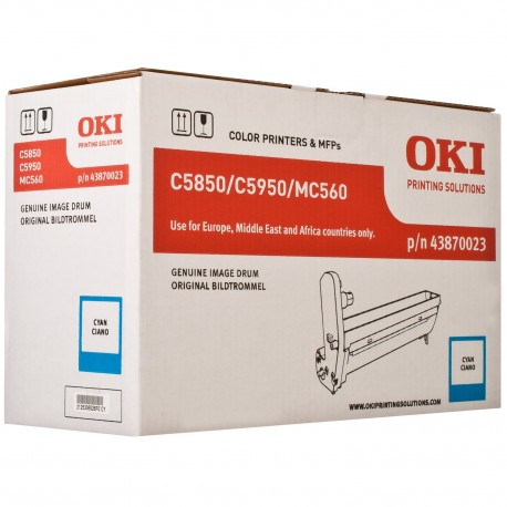 DRUM UNIT OKI C5850, (43870023), СИН.