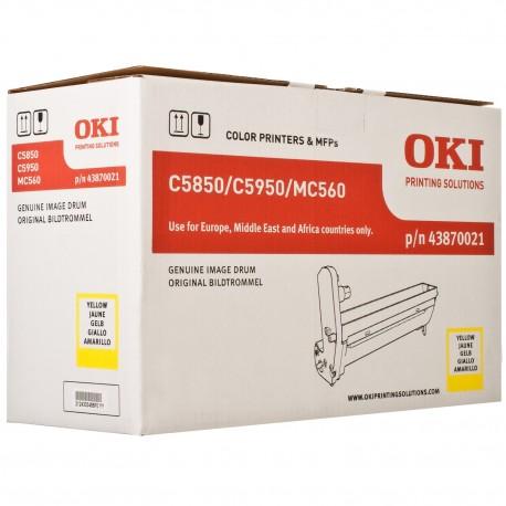 DRUM UNIT OKI C5850, (43870021), ЖЕЛТ.