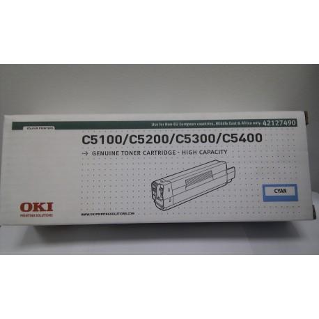ТОНЕР-КАРТРИДЖ OKI C5100 (MAX, NON EU), СИН. (TYPE C6, 42127490)