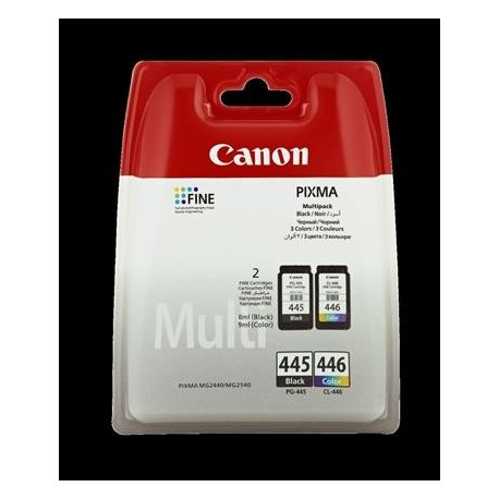 КАРТРИДЖ CANON PG-445/CL-446, (8283B004, 8283B001/8285B001, MULTI PACK), ЧЕРН.+ЦВ.