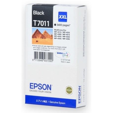 КАРТРИДЖ EPSON WORK FORCE WP-4000, (T701140, EXTRA MAX), ЧЕРН.