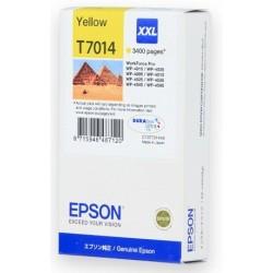 КАРТРИДЖ EPSON WORK FORCE WP-4000, (T701440, EXTRA MAX), ЖЕЛТ.