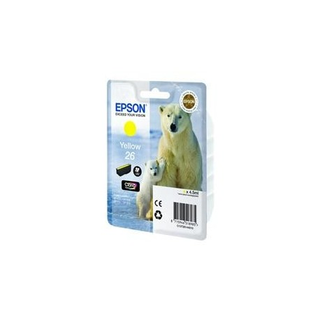 КАРТРИДЖ EPSON EXPRESSION HOME XP600, (T26144010), ЖЕЛТ.