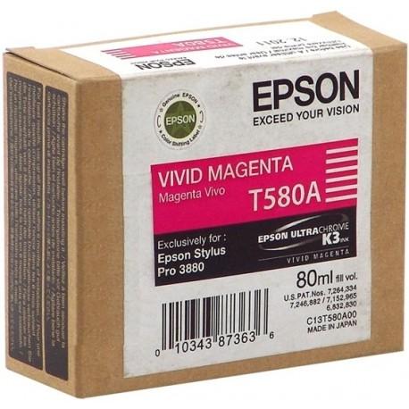 КАРТРИДЖ EPSON ST. PRO 3880, (T580A00), ЯРК. КРАСН.
