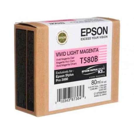 КАРТРИДЖ EPSON ST. PRO 3880, (T580B00), ЯРК. СВ. КРАСН.