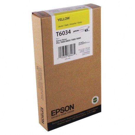 КАРТРИДЖ EPSON ST. PRO 7800, (T563400/T603400), ЖЕЛТ.