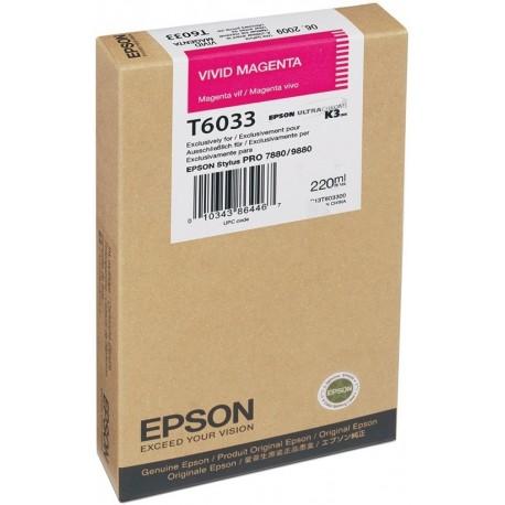 КАРТРИДЖ EPSON ST. PRO 7800, (T603300), ЯРК. КРАСН.
