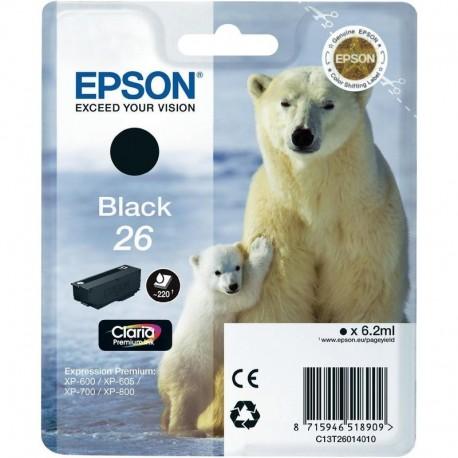 КАРТРИДЖ EPSON EXPRESSION HOME XP600, (T26014010, ПИГМЕНТ), ЧЕРН.
