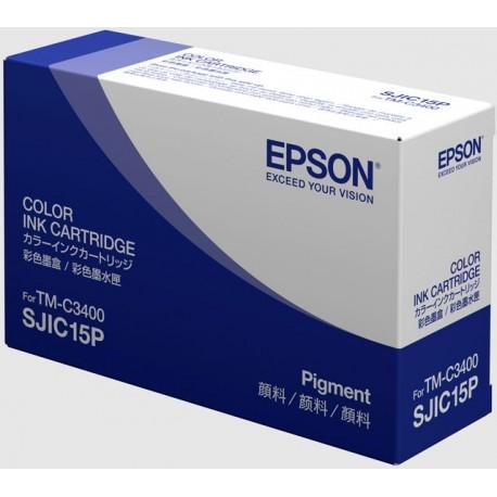 КАРТРИДЖ EPSON TM-C3400, (S020464, SJIC15P), ЦВ.