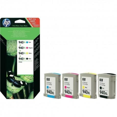 КОМПЛЕКТ КАРТРИДЖЕЙ HP C2N93AE, (№940, XL), (C4906AE + C4908AE + C4907AE + C4909AE)