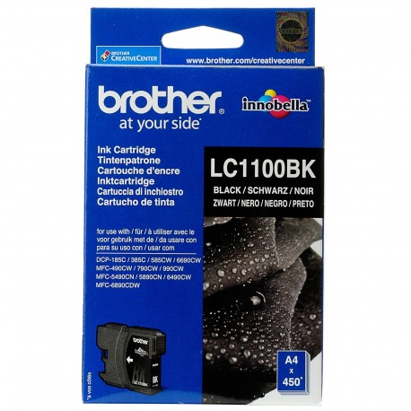 КАРТРИДЖ BROTHER DCP-385, (LC1100BK), ЧЕРНЫЙ
