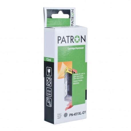 КАРТРИДЖ CANON CLI-451GY, (PN-451XLGY, XL, PATRON), СЕРЫЙ