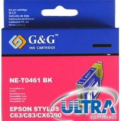КАРТРИДЖ EPSON ST. C63, (T04614A/NE-T0461, G&G), ЧЕРН.