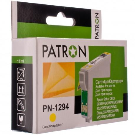 КАРТРИДЖ EPSON ST. SX420, (T12944010/PN-1294, MAX, PATRON), ЖЕЛТ.