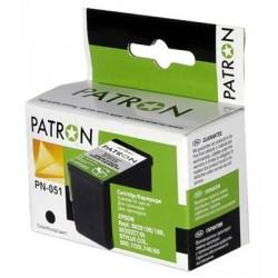 КАРТРИДЖ EPSON ST. COL. 740/800, (T051150: 1XS020189/108/PN-051, PATRON), ЧЕРН.