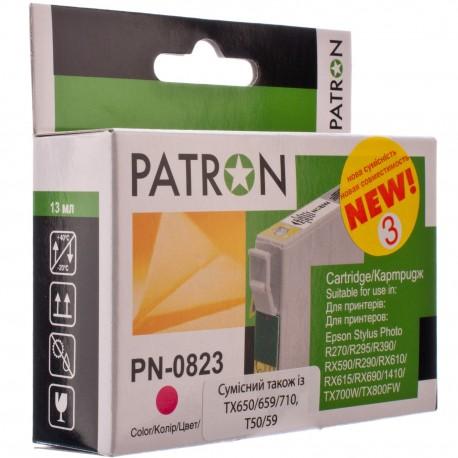 КАРТРИДЖ EPSON ST. PHOTO R270/T50, (T08134/PN-0823, №3, PATRON), КРАСН.