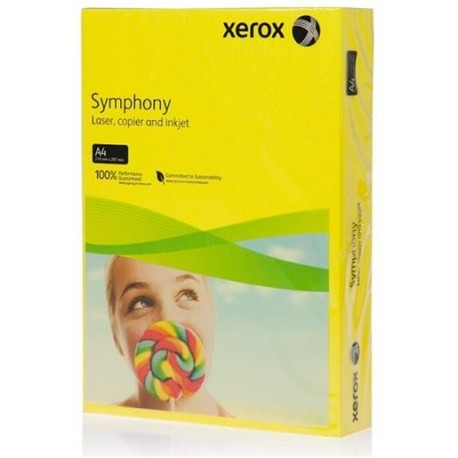 БУМАГА XEROX SYMPHONY INTENSIVE DARK YELLOW, (003R94275, 160 Г/М), A4, 250 Л