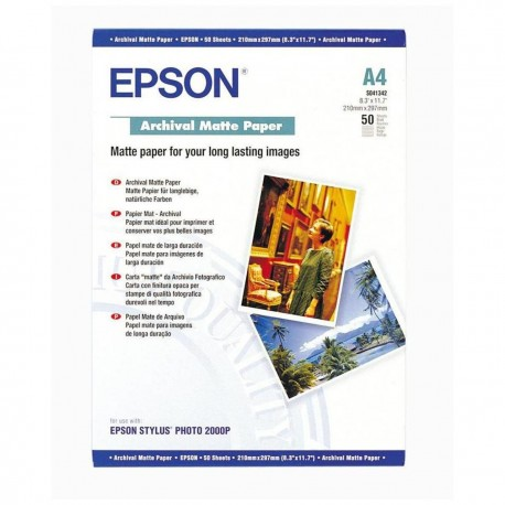 БУМАГА Д/СТРУЙНЫХ EPSON, (S041342, 192 Г/М), A4, 50Л