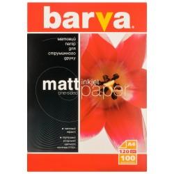 БУМАГА Д/СТРУЙНЫХ БАРВА (IP-A120-005, О/С, М), 120 Г/М, A4, 100Л
